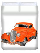 1933 Ford Three Window Coupe Duvet Cover