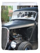 1933 Ford Two Door Sedan Front And Side View Duvet Cover