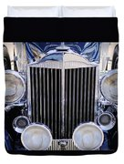 1933 Packard 12 Convertible Coupe Grille Duvet Cover