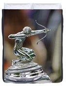 1933 Pierce-arrow 1236 2-door Convertible Coupe Hood Ornament Duvet Cover by Jill Reger