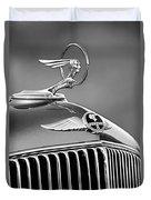 1933 Pontiac Hood Ornament - Emblem -0385bw Duvet Cover