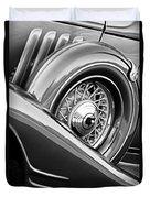 1933 Pontiac Spare Tire -0431bw Duvet Cover