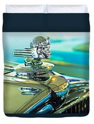 1933 Stutz Dv-32 Hood Ornament Duvet Cover