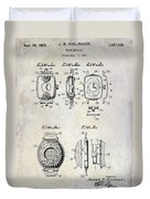 1933 Watch Case Patent Drawing  Duvet Cover