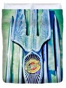 1934 Chrysler Airflow Hood Ornament 2 Duvet Cover