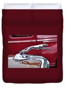 1934 Ford 6 Wheel Equip Hood Ornament Duvet Cover