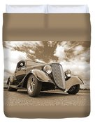 1934 Ford Coupe In Sepia Duvet Cover