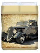 1934 Ford Five Window Coupe Duvet Cover