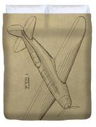 1934 Mail Plane Patent Duvet Cover