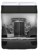 1934 Packard Black And White Duvet Cover