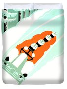 1935 - Lake Placid - New York - Travel Poster - Color Duvet Cover