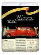 1935 - Nash Aeroform Automobile Advertisement - Color Duvet Cover