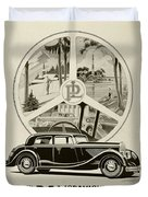 1935 - Panhard Panoramique French Automobile Advertisement Duvet Cover