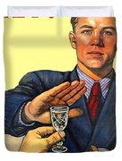 1935 - Soviet Union Anti Alcohol Propaganda Poster - Color Duvet Cover