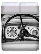 1935 Auburn 851 Supercharged Boattail Speedster Steering Wheel -0862bw Duvet Cover