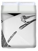 1935 Auburn Boattail Speedster Hood Ornament Duvet Cover