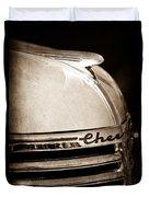 1935 Chevrolet Hood Ornament - Emblem Duvet Cover