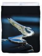 1935 Chevrolet Sedan Hood Ornament Duvet Cover by Jill Reger