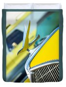 1935 Hudson Hood Ornament Duvet Cover