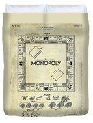 1935 Monopoly Patent Drawing Duvet Cover