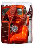 1935 Orange Ford-front View Duvet Cover
