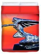 1935 Packard Hood Ornament -0295c Duvet Cover