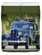 1935 Plymouth Taxi Cab Duvet Cover