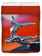 1935 Pontiac Sedan Hood Ornament 2 Duvet Cover