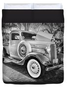 1936 Chevrolet Pick Up Truck Painted Bw   Duvet Cover