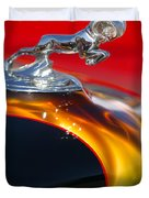 1936 Dodge Ram Hood Ornament 1 Duvet Cover