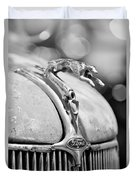1936 Ford Cabriolet Hood Ornament - Emblem Duvet Cover