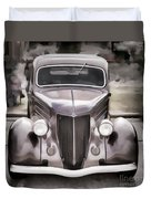 1936 Ford Roadster Classic Car Or Automobile Painting In Color  3120.02 Duvet Cover
