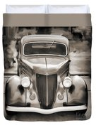 1936 Ford Roadster Classic Car Or Automobile Painting In Sepia  3120.01 Duvet Cover