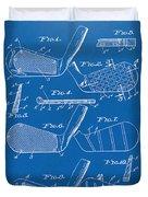 1936 Golf Club Patent Blueprint Duvet Cover