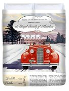 1936 - Lasalle Convertible Automobile Advertisement - Color Duvet Cover