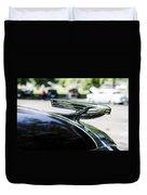 1937 Chevy Hood Ornament Duvet Cover