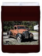 1937 Chevy Wrecker Duvet Cover