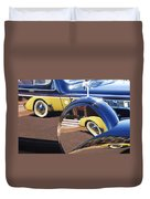 1937 Cord 812 Phaeton Reflected Into Packard Duvet Cover
