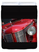 1937 Desoto Front Grill And Head Light 7285 Duvet Cover