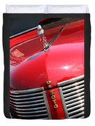 1937 Desoto Front Grill Duvet Cover
