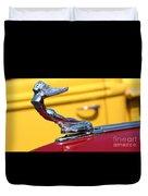 1937 Desoto Hood Ornament-7277 Duvet Cover