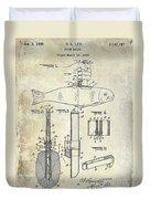 1937 Fishing Knife Patent Duvet Cover