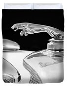 1937 Jaguar Prototype Hood Ornament -386bw55 Duvet Cover