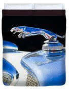1937 Jaguar Prototype Hood Ornament -386c55 Duvet Cover