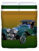 1937 Jaguar S S Onehundred  Duvet Cover