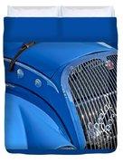 1937 Peugeot 402 Darl'mat Legere Special Sport Roadster Recreation Grille Emblem Duvet Cover