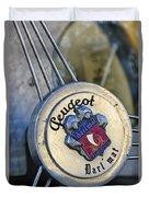 1937 Peugeot 402 Darl'mat Legere Special Sport Roadster Recreation Steering Wheel Emblem Duvet Cover