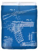 1937 Police Remington Model 8 Magazine Patent Artwork - Blueprin Duvet Cover