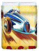 1938 - Automobile Club De France Poster - Reims - George Ham - Color Duvet Cover