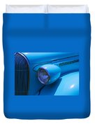 1938 Blue Plymouth Coupe Duvet Cover